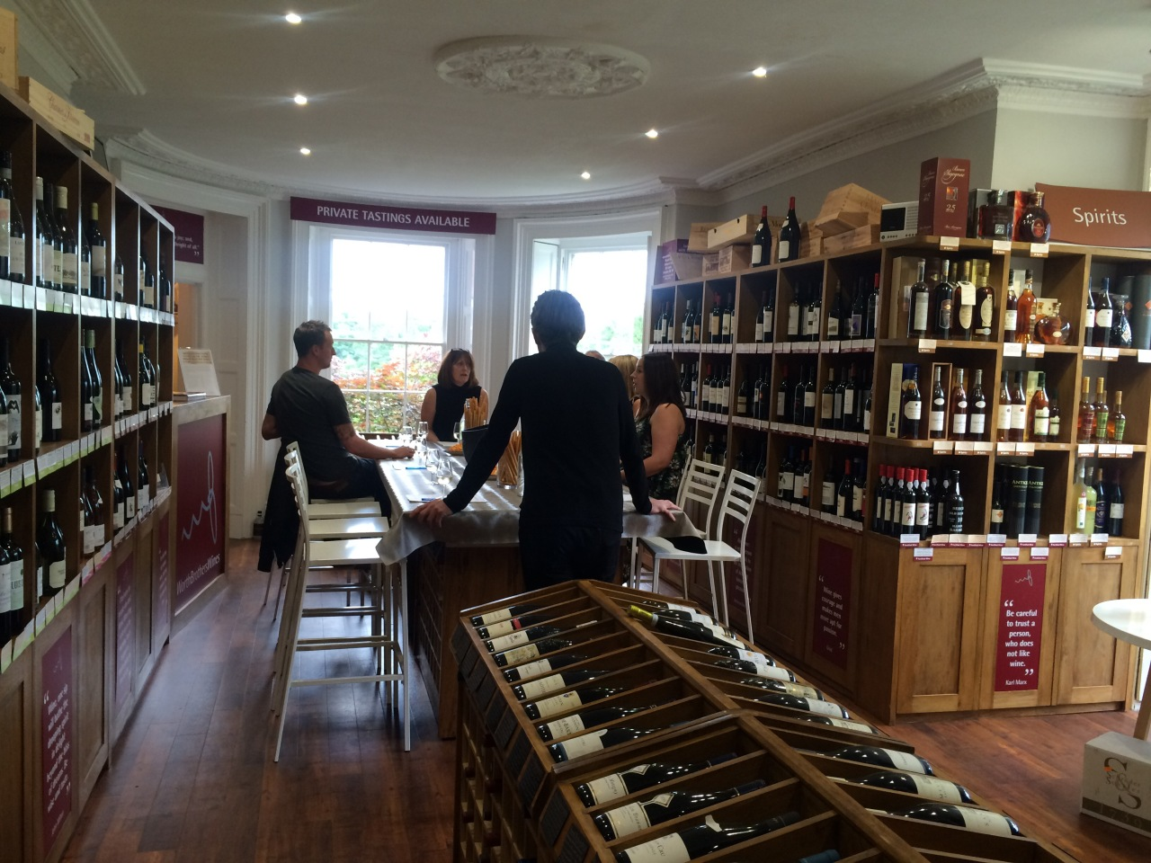 Wine tasting at Worth Brothers, Kirk Langley