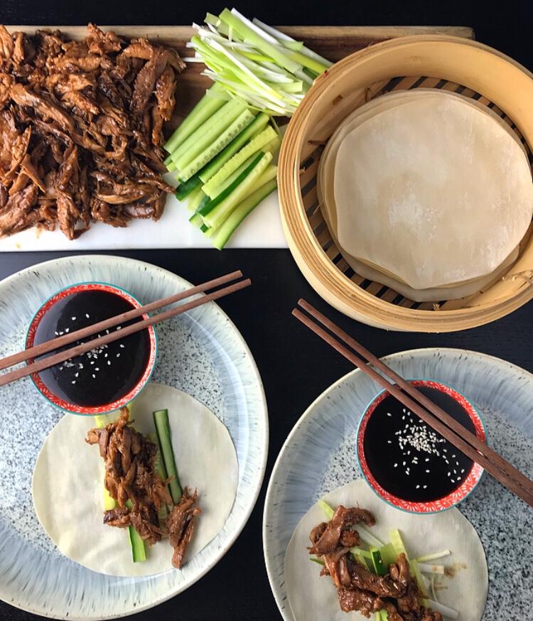 Recipe – Peking pheasant with Chinesepancakes